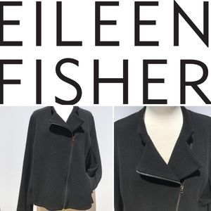 EILEEN FISHER I Women's knit moto jacket